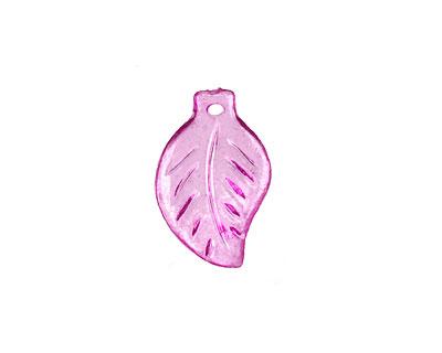 Lucite Transparent Phlox Mini Birch Leaf 12x18mm