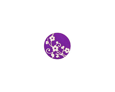 Lillypilly Purple Floral Vine Anodized Aluminum Disc 11mm, 24 gauge
