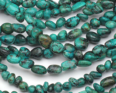 African Turquoise Mini Tumbled Nugget 4-8x3-5mm