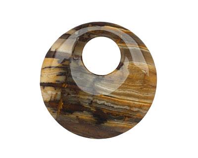 Outback Wood Jasper Off Center Donut 45mm