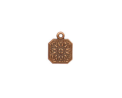 Stampt Antique Copper (plated) Square Tag 10x12mm