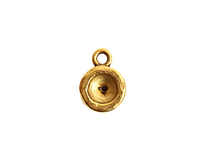 Nunn Design Antique Gold (plated) Organic Circle Bezel Pendant 10x15mm