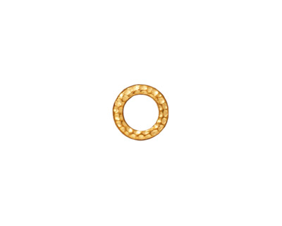 TierraCast Gold (plated) Small Hammertone Ring 9mm