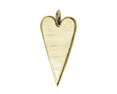 Brass Heart Bezel 29x53mm