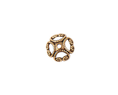 Nunn Design Antique Gold (plated) 8mm Filigree Bead Cap 3x8mm