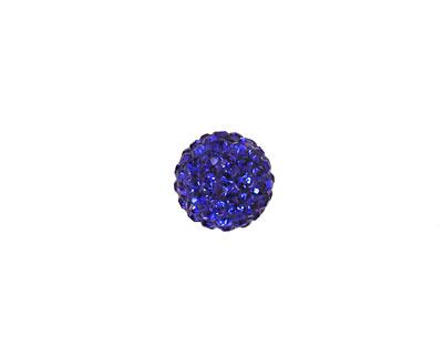 Cobalt Pave Round 10mm