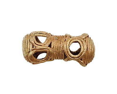 African Brass Open Circle Peanut 29-30x13-14mm