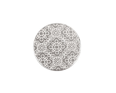 Lillypilly Silver Baroque Anodized Aluminum Disc 19mm, 22 gauge
