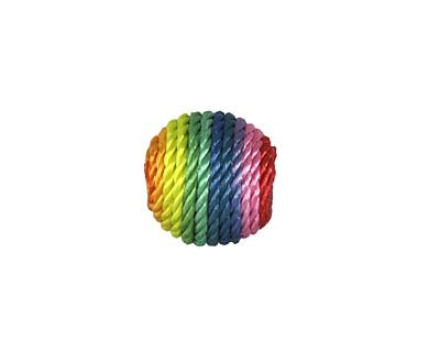 Rainbow Thread Wrapped Bead 14mm