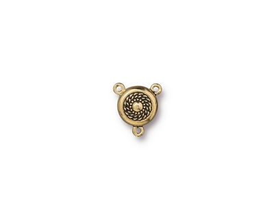 TierraCast Antique Gold (plated) Beaded Magnetic Clasp 20x18mm