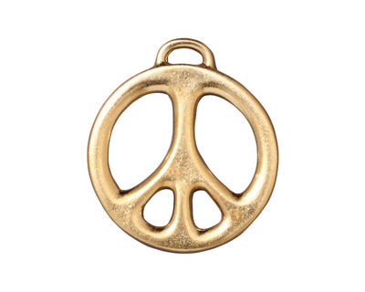 TierraCast Gold (plated) Peace Pendant 24x27mm