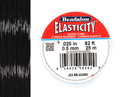 Elasticity Black .5mm, 25 meters