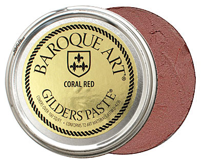 Coral Red Baroque Art Gilders Paste 100ml