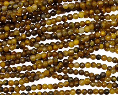 Tiger Eye Round 2mm