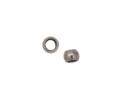 Gunmetal Round Crimp Bead 2mm