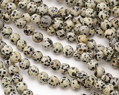 Dalmatian Jasper Round 6mm