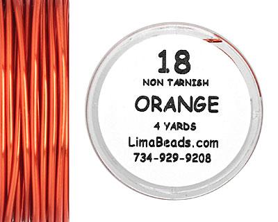 Parawire Orange 18 Gauge, 4 Yards