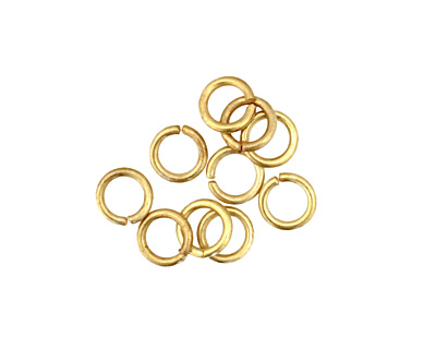 Satin Hamilton Gold (plated) Round Jump Ring 6mm, 18 gauge