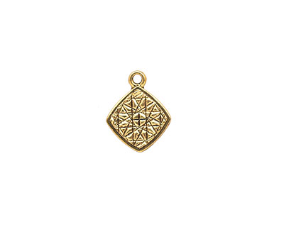 Stampt Antique Gold (plated) Diamond Tag 11x14mm