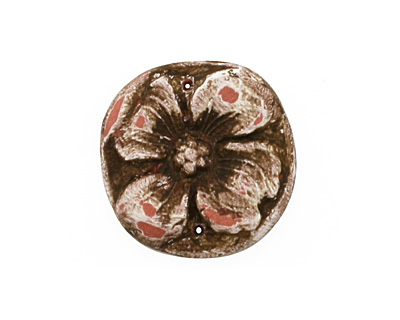 Humble Beads Polymer Clay Pink Dogwood Blossom Pendant 26-27mm