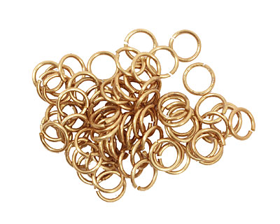 Artistic Wire Non-Tarnish Brass Chain Maille Jump Ring 5.95mm, 18 gauge