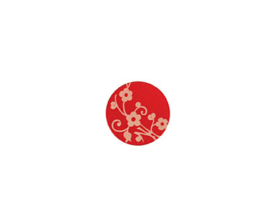 Lillypilly Red Floral Vine Anodized Aluminum Disc 11mm, 24 gauge