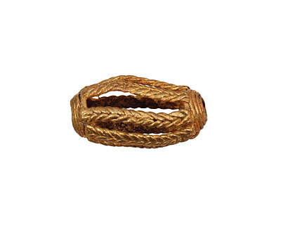 African Brass Braided Rice 23-25x10-11mm