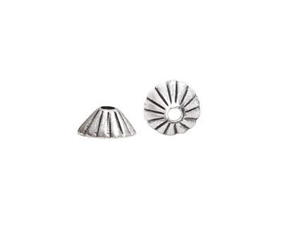 Nunn Design Antique Silver (plated) Limpet Bead Cap 5x11mm