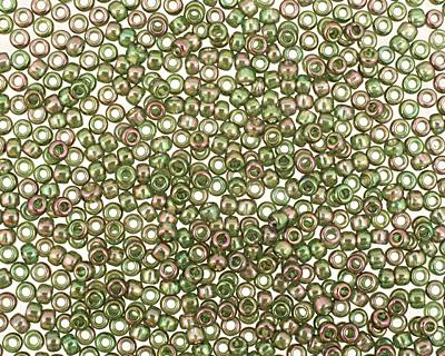 TOHO Gold Lustered Olivine Round 11/0 Seed Bead