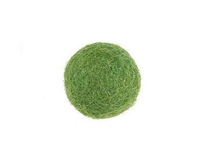 Leaf Green Felt Round 20mm
