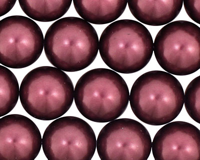 Eggplant Shell Pearl Round 14mm