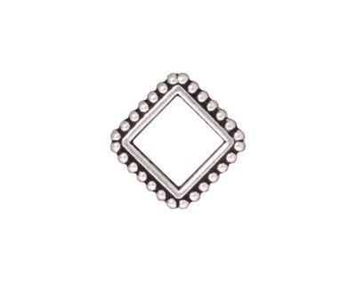 TierraCast Antique Silver (plated) 8mm Diamond Bead Frame 16mm