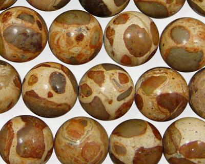 African Brown Rhyolite Round 12mm