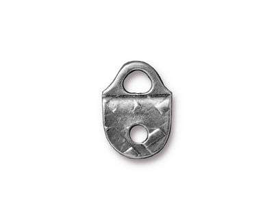 TierraCast Antique Pewter (plated) Rock & Roll Strap Tip 16x12mm