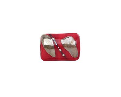 Grace Lampwork Regal Red Mini Kaleras 15x10mm