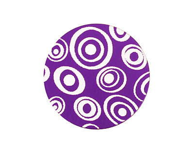 Lillypilly Purple Groovy Circles Anodized Aluminum Disc 25mm, 24 gauge