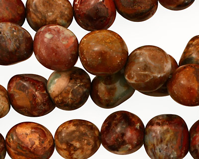 African Rainbow Agate Tumbled Nugget 8-12mm