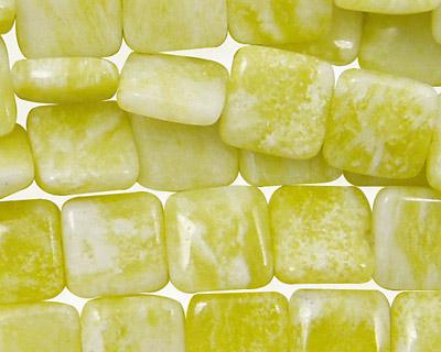 Natural Lemon Jade Puff Square 10mm