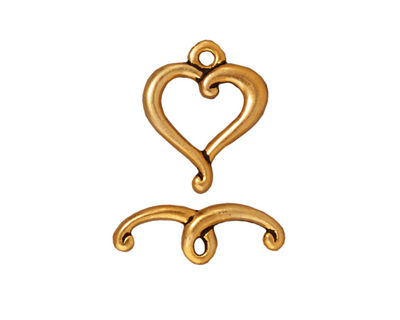 TierraCast Antique Gold (plated) Jubilee Toggle Clasp 14x17mm, 19mm bar