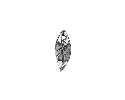 Rustic Charms Sterling Silver Leaf Charm 6x15mm