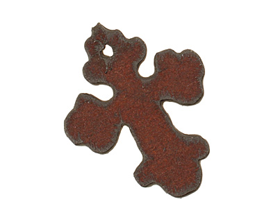 The Lipstick Ranch Rusted Iron Small Cross Pendant 25x32mm