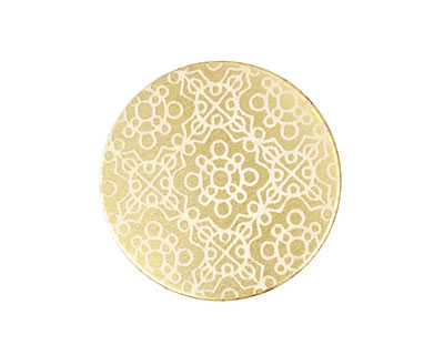 Lillypilly Gold Baroque Anodized Aluminum Disc 25mm, 22 gauge