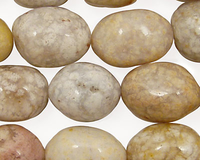 Oregon Snakeskin Agate Tumbled Rice 18x13mm