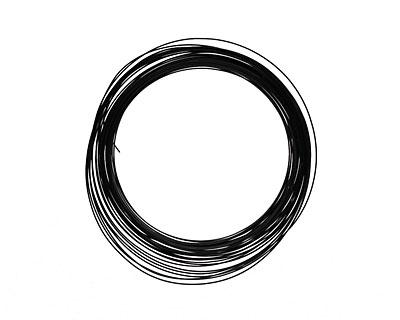 Soft Flex Black Half Round Craft Wire 21 gauge, 7 yards