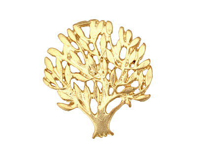 Ezel Findings Gold (plated) Summer Tree Pendant 25x27mm