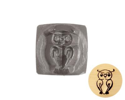 Owl Metal Stamp 6mm
