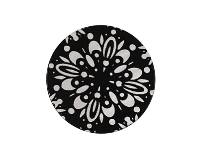 Lillypilly Black Kaleidoscope Anodized Aluminum Disc 25mm, 22 gauge
