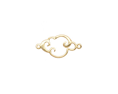 Amoracast 14K Gold (plated) Sterling Silver Cloud Connector 15x9mm