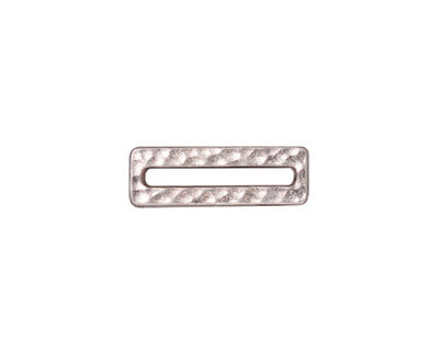 TierraCast Rhodium (plated) Hammered Rectangle Link 18x6mm