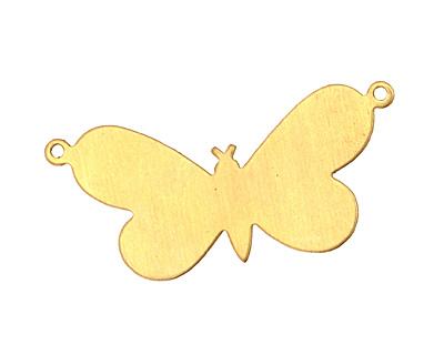 Brass Butterfly Blank Link 38x18mm